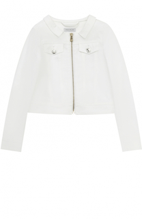 Куртка из денима с кристаллами на молнии I Pinco Pallino