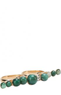 Кольцо с декором из агата и кристаллами Swarovski Anton Heunis