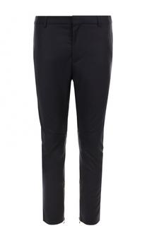Укороченные брюки прямого кроя из смеси шерсти и кашемира Lanvin