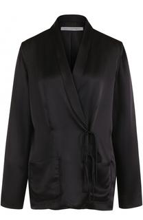 Шелковый жакет с накладными карманами Raquel Allegra