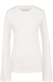Пуловер фактурной вязки с расклешенными рукавами Mm6