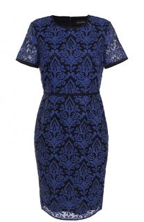 Кружевное приталенное платье-миди St. John