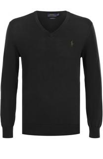 Хлопковый пуловер тонкой вязки Polo Ralph Lauren