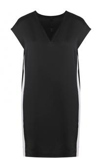 Мини-платье свободного кроя с V-образным вырезом Ilaria Nistri