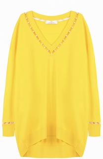 Пуловер свободного кроя с V-образным вырезом Givenchy