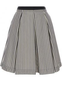 Мини-юбка в полоску с защипами Moncler