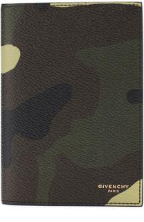 Обложка для паспорта с камуфляжным принтом Givenchy