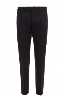 Хлопковые брюки прямого кроя с контрастной вышивкой Valentino