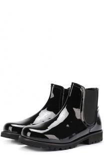 Лаковые ботинки с эластичной вставкой Dolce & Gabbana