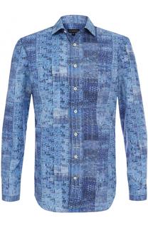 Хлопковая рубашка с принтом Baldessarini