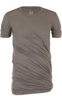 удлиненная хлопковая футболка Rick Owens