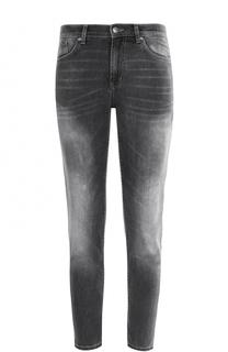 Укороченные джинсы с потертостями HUGO