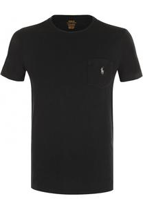 Хлопковая футболка с нагрудным карманом Polo Ralph Lauren