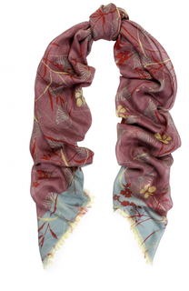 Платок из смеси кашемира и шелка с принтом Valentino