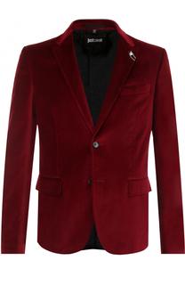 Хлопковый приталенный пиджак Just Cavalli