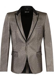 Приталенный пиджак с остроконечными лацканами Just Cavalli