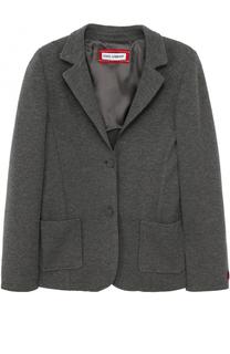 Однобортный пиджак из смеси шерсти и вискозы Dolce & Gabbana