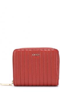 Портмоне из стеганой кожи на молнии DKNY