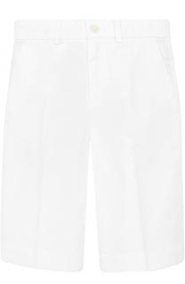 Однотонные шорты из хлопка прямого кроя Dolce & Gabbana