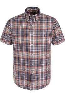 Хлопковая рубашка с короткими рукавами и воротником button down Polo Ralph Lauren