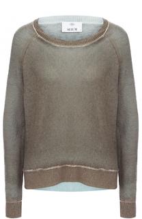 Кашемировый пуловер свободного кроя с круглым вырезом Allude