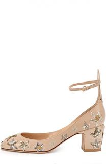 Кожаные туфли Tan-Go с аппликациями в виде звезд Valentino