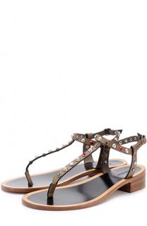 Кожаные сандалии с заклепками Isabel Marant