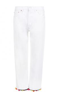 Укороченные джинсы с декоративной отделкой Forte Couture