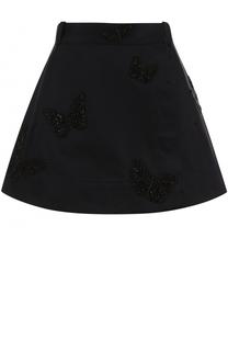 Юбка-шорты с вышивкой в виде бабочек Valentino