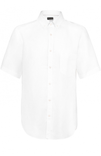 Льняная рубашка с короткими рукавами Paul&Shark Paul&Shark