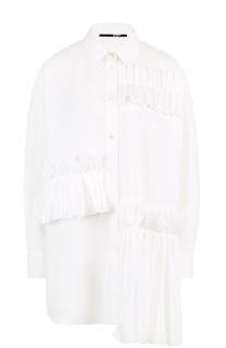 Блуза свободного кроя с оборками MCQ