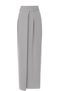 Юбка-макси с широким поясом и высоким разрезом Armani Collezioni