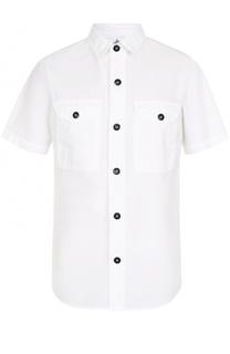 Хлопковая рубашка с короткими рукавами Stone Island
