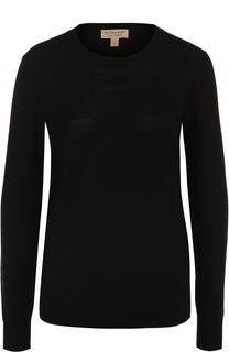 Пуловер с круглым вырезом и принтом Burberry
