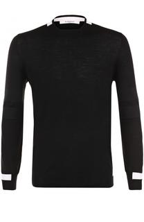 Джемпер из шерсти тонкой вязки с контрастной отделкой Givenchy