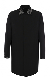 Шерстяное пальто прямого кроя с декоративной отделкой Valentino
