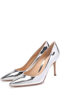 Туфли Gianvito 85 из металлизированной кожи Gianvito Rossi