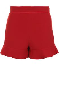 Мини-шорты с широким поясом и оборками REDVALENTINO