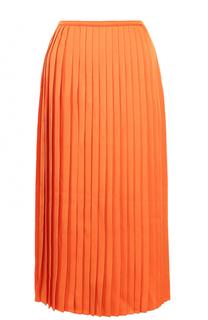 Плиссированная юбка-миди Fendi