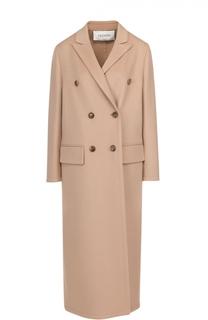 Двубортное пальто с остроконечными лацканами Valentino
