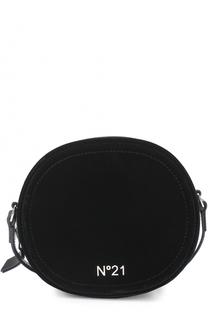 Бархатная сумка с логотипом бренда No. 21