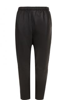 Укороченные кожаные брюки с эластичным поясом DROMe