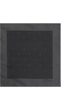 Шелковый платок с узором Alexander McQueen