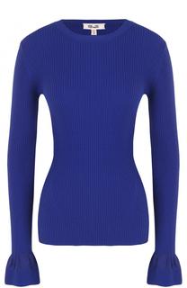 Пуловер фактурной вязки с расклешенными рукавами Diane Von Furstenberg