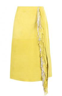 Замшевая юбка-миди с бахромой Diane Von Furstenberg