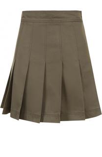 Хлопковая мини-юбка со складками Valentino