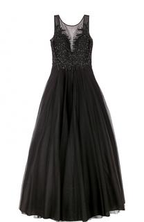 Платье-макси без рукавов с вышивкой Basix Black Label