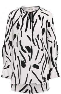 Шелковая блуза свободного кроя с принтом Diane Von Furstenberg