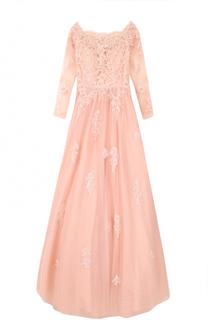 Приталенное платье-макси с вышивкой Basix Black Label