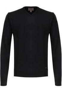 Шерстяной пуловер тонкой вязки Armani Collezioni